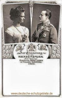 Zur Erinnerung an die Hochzeitsfeier Ihrer Hoheiten Großherzog Ernst Ludwig mit Prinzessin Eleonore 1905