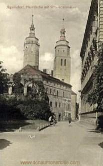 Jägerndorf, Pfarrkirche mit Schwedenmauer