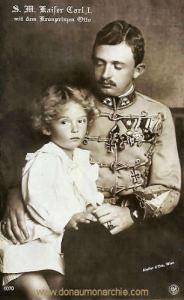 S. M. Kaiser Carl I. mit dem Kronprinzen Otto