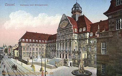 Kassel, Rathaus und Königsstraße