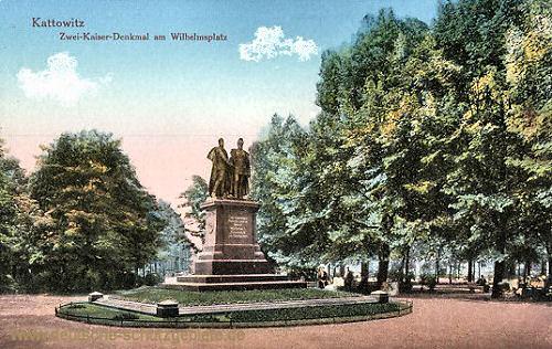 Kattowitz, Zwei-Kaiser-Denkmal am Wilhelmsplatz