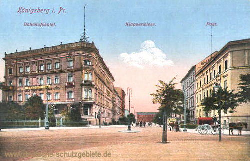 Königsberg i. Pr., Bahnhofshotel, Klapperwiese, Post