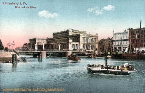 Königsberg i. Pr., Blick auf die Börse