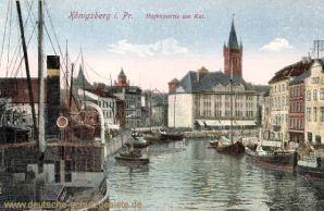 Königsberg i. Pr., Hafenpartie am Kai