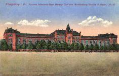 Königsberg i. Pr., Kaserne Infanterieregiment Herzog Carl von Mecklenburg-Strelitz