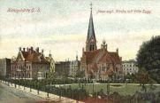Königshütte O.-S., Neue evangelische Kirche mit Villa Sugg