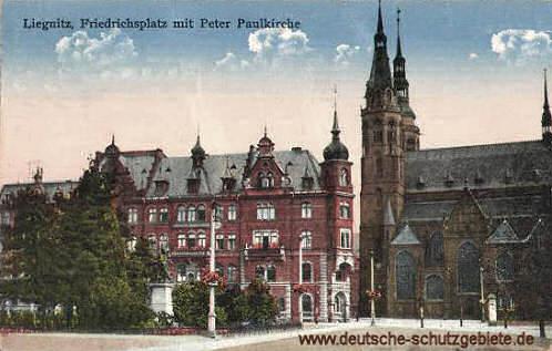 Liegnitz, Friedrichsplatz mit Peter Paulkirche