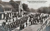 Original-Aufnahme vom Kriegsschauplatz. Befreiung Lyck's durch deutsche Truppen.