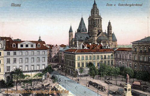 Mainz, Dom und Gutenbergdenkmal