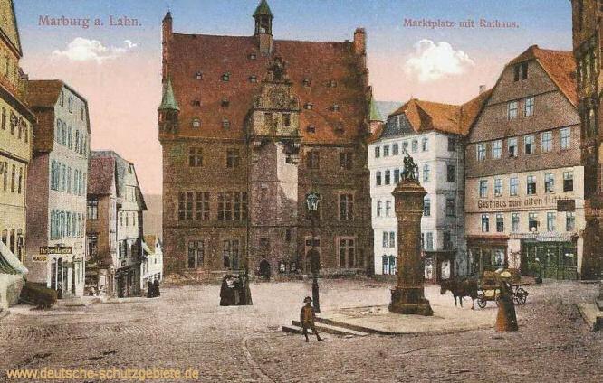 Marburg a. Lahn, Marktplatz mit Rathaus
