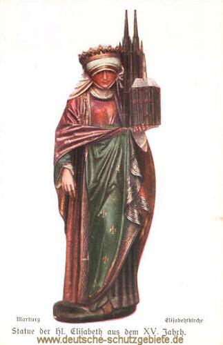 Marburg a. d. Lahn, Statue der Heiligen Elisabeth von Thüringen