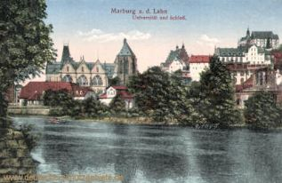Marburg a. d. Lahn, Universität und Schloss