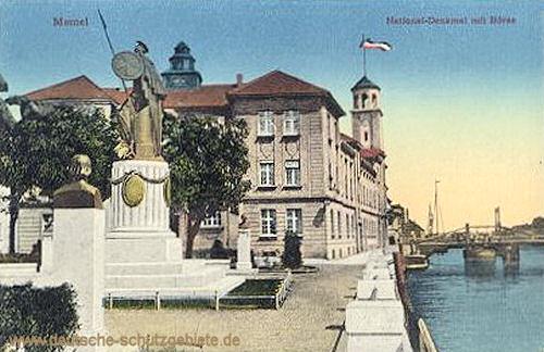 Memel, National-Denkmal mit Börse