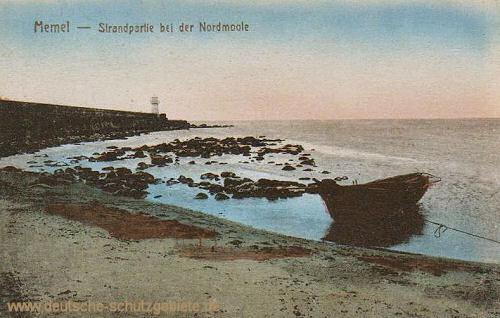 Memel, Strandpartie bei der Nordmoole