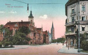 Neisse, Post mit Garnisonkirche