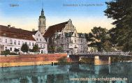 Oppeln, Schlossbrücke und Evangelische Kirche