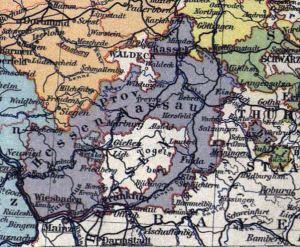 Hessen-Nassau, Landkarte 1900
