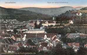 Schmalkalden, Partie mit Schloss Wilhelmsburg