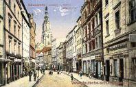 Schweidnitz, Langstraße und Katholische Pfarrkirche