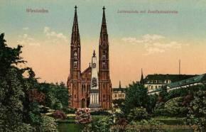 Wiesbaden, Luisenplatz mit Bonifaziuskirche