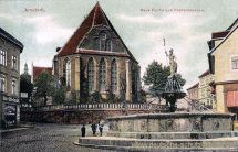 Arnstadt, Neue Kirche und Hopfenbrunnen