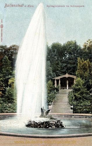 Ballenstedt, Springbrunnen im Schlosspark