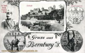 Bernburg, Herzog Friedrich von Anhalt, Schloss