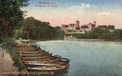 Bernburg, Saalepartie mit Schloss