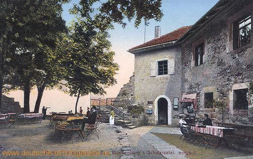 Burgruine Greifenstein bei Blankenburg im Schwarzatal - Burghof