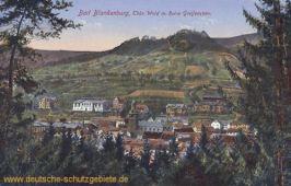 Bad Blankenburg, Thüringer Wald mit Ruine Greifenstein