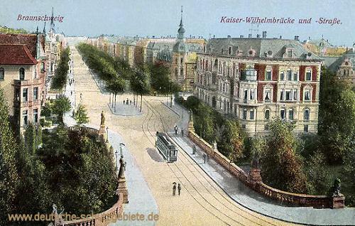 Braunschweig, Kaiser-Wilhelmbrücke und -Straße