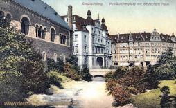 Braunschweig, Puhfäutchenplatz mit deutschem Haus