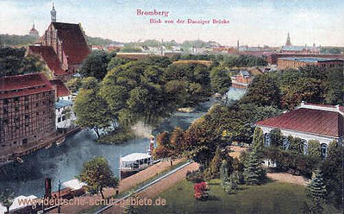 Bromberg, Blick von der Danziger Brücke