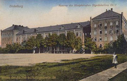 Bückeburg, Kaserne des Westfälischen Jägerbataillons Nr. 7