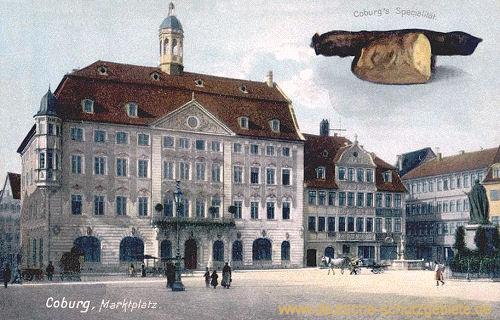 Coburg, Marktplatz mit Rathaus