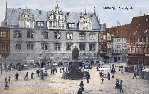 Coburg, Marktplatz mit Regierungsgebäude