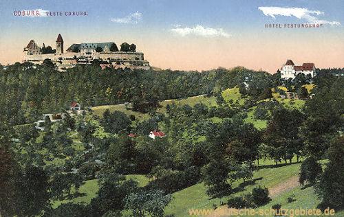 Coburg, Veste Coburg und Hotel Festungshof