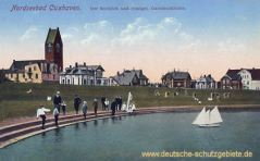 Cuxhaven, Seedeich und evangelische Garnisionskirche