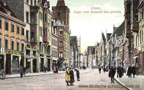 Erfurt, Anger vom Brunnen aus gesehen