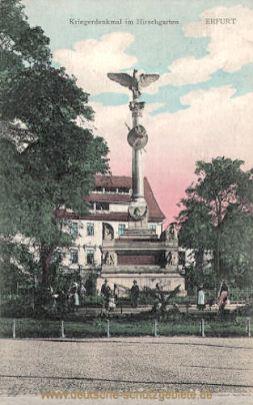Erfurt, Kriegerdenkmal im Hirschgarten