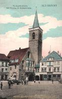 Erfurt, St. Aegidienkirche mit Eingang zur Krämerbrücke