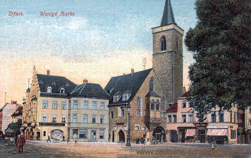 Erfurt, Wenige Markt