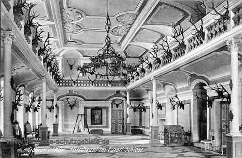 Gehren, Hirschsaal im Fürstlichen Schloss