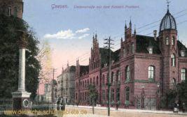 Gnesen, Lindenstraße mit dem Kaiserlichen Postamt
