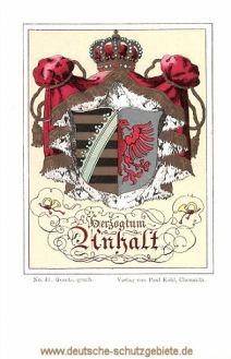 Herzogtum Anhalt, Wappen