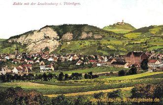 Kahla mit der Leuchtenburg in Thüringen