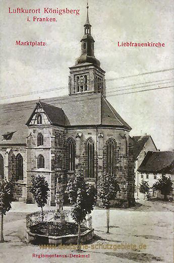 Königsberg in Franken, Marktplatz, Liebfrauenkirche