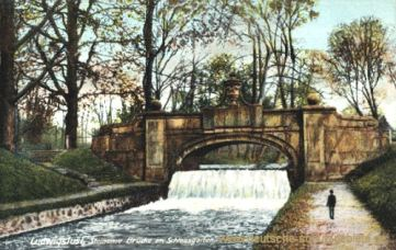Ludwigslust, Steinerne Brücke im Schlossgarten