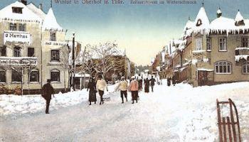 Oberhof, Zellaerstraße im Winterschmuck