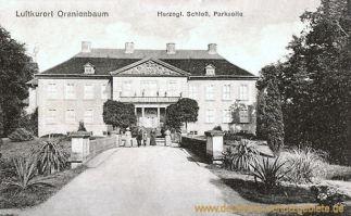 Oranienbaum, Herzogliches Schloss, Parkseite